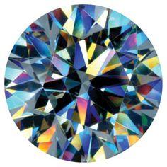 rainbow colors of diamond