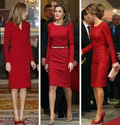 royalroaster:  Queen Letizia in red