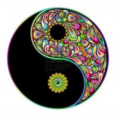 """Wall Mural """"symbol, symbol, east - yin yang symbol psychedelic art design-simbolo psichedelico"""" ✓ Easy Installation ✓ 365 Day Money Back Guarantee ✓ Browse other patterns from this collection! Arte Yin Yang, Ying Y Yang, Yin Yang Art, Yin Yang Tattoos, Tatuajes Yin Yang, Psychedelic Art, Dot Painting, Stone Painting, Image Zen"""