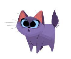 Daily Cat Drawings — 527: Purple Kitten