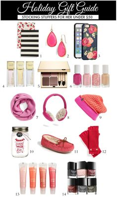 Holiday Gift Guide   Stocking Stuffers for Her Under $50