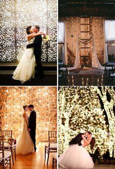 Meu casamento precisa ser cheio dessas luzinhas *-* haha