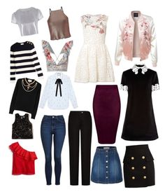 Cuerpo de pera by karla-lu-d on Polyvore featuring polyvore, fashion, style, macgraw, RED Valentino, Gucci, J.Crew, Related, Hollister Co., Miss Selfridge, Zimmermann, LE3NO, Topshop, Acne Studios, Balmain and clothing