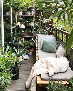 Une mini jungle sur un balcon. - Balcony Garden Ideas , Une mini jungle sur un balcon. Une mini jungle sur un balcon. Small Balcony Design, Small Balcony Garden, Small Balcony Decor, Balcony Plants, Small Patio, Balcony Gardening, Balcony Flowers, Small Balconies, Patio Plants