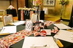 萩の宿 常茂恵 : 【和婚ブライダル】結婚式披露宴会場 コーディネート例【装花・アイテム・テーブルカラー】 - NAVER まとめ