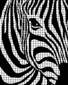 Zebra Crochet Graphghan Pattern (Chart/Graph AND Row-by-Row Written Instructions) - 01