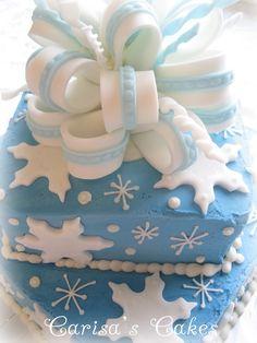 Winter Birthday cake or Disney frozen bday cake