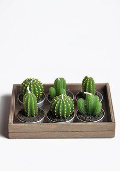 Cactus Tealight Candles