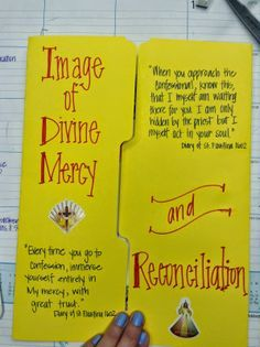 Image of Divine Mercy and the Sacrament of Reconciliation lapbook/notebook ideas from looktohimandberadiant.blogspot.com