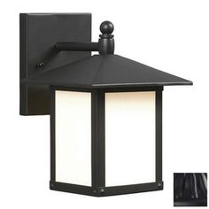 Galaxy 9-in Black Outdoor Wall Light at Lowes ($54)