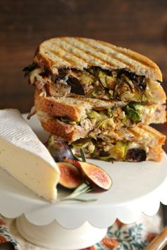 Rosemary Fig Roast Chicken Brie Panini - www.countrycleaver.com