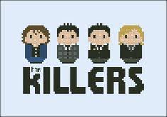 The Killers rock band - Music - Mini People - Cross Stitch Patterns - Products