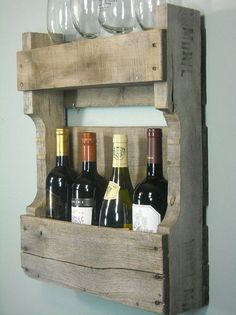 Cool wine rack idea..