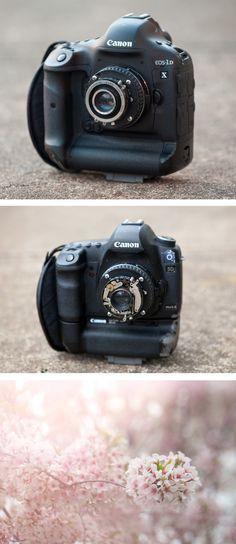 Lens from a  twin-lens reflex camera on a DSLR body #DIY