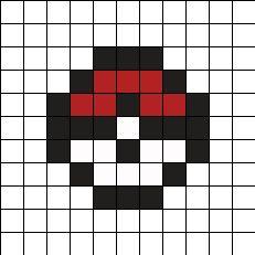 Easy Perler Bead Patterns, Melty Bead Patterns, Perler Bead Templates, Kandi Patterns, Stitch Patterns, Pokemon Perler Beads, Diy Perler Beads, Perler Bead Art, Easy Pixel Art