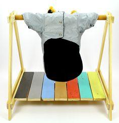 Abrigo con Capucha Color Gris y Azul Marino