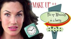 Pin Up Mummy In A Hurry - Easy and Quick Pin Up  Make up - NO SKILL REQU...