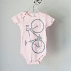 Vital bicycle Infant one piece pink size 612 mo by vital on Etsy, $18,00