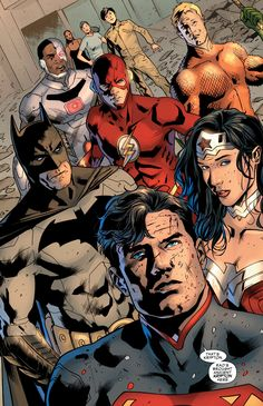 """The League in Justice League of America v4 #9 - """"Power and Glory VIII"""" (2016) - Bryan Hitch, Inks: Daniel Henriques, Colors: Alex Sinclair"""