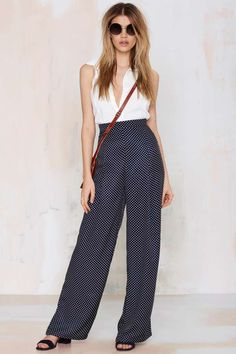 Glamorous Up & Away Wide-Leg Pant
