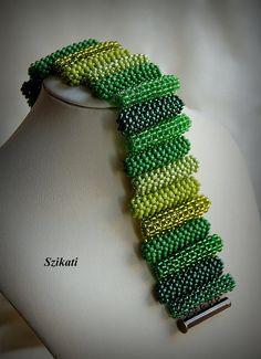 Seed Bead Manschette Armband Anweisung Beadwork Armband von Szikati
