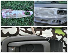 Reupholster your car door with fabric & mod podge