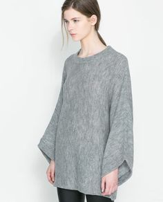 Image 2 of PONCHO SWEATER from Zara