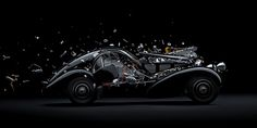 This Artist Exploded Your Favorite Racing Legends So That You Don't Have To - Bugatti Type 57 Classic Sports Cars, Classic Cars, Bugatti Type 57, Mechanical Art, Lamborghini Miura, Super Sport Cars, Automotive Art, Car Travel, Supercars
