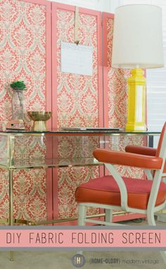 Create a custom folding screen using fabric and liquid starch | {Home-ology} modern vintage