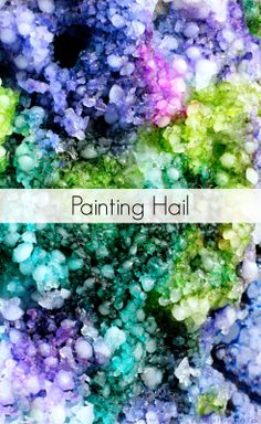 Painting Hail or Crushed Ice from Fun at Home with Kids