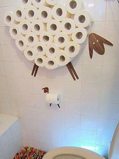 Love the toilet paper sheep.