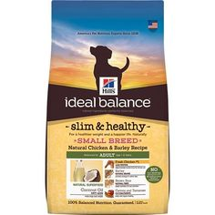 Hill's Ideal Balance Adult Slim & Healthy Small Breed Natural Chicken & Barley Recipe Dry Dog Food, 3.5-Pound Bag * Read more reviews of the product by visiting the link on the image.