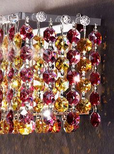 Italian Masiero Crystal Light Fixtures Sparkle in Dazzling Colors