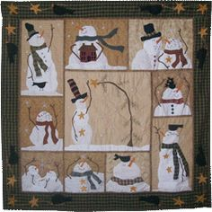 Quilting Flakes & Friends Snowman Quilt Pattern Packet