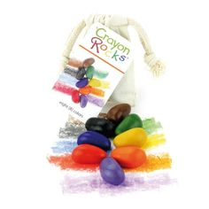 Crayon Rocks® 8 primary colours in a muslin bag Making Crayons, Wax Crayons, Muslin Bags, Cotton Muslin, Cotton Bag, Christmas Bags, Nature Crafts, Craft Materials, To Color