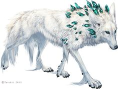 The Shaman by Tatchit fey shadow winter diamond gem gemstone white wolf worg monster beast creature animal | Create your own roleplaying game material w/ RPG Bard: www.rpgbard.com | Writing inspiration for Dungeons and Dragons DND D&D Pathfinder PFRPG Warhammer 40k Star Wars Shadowrun Call of Cthulhu Lord of the Rings LoTR + d20 fantasy science fiction scifi horror design | Not Trusty Sword art: click artwork for source