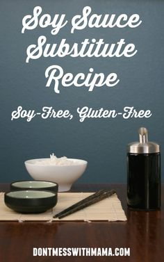 Gluten-Free Soy Sauce Alternative - Don't Mess with Mama Healthy Gluten Free Recipes, Whole Food Recipes, Cooking Recipes, Sauce Recipes, Healthy Foods, Diet Recipes, Chicken Recipes, Soy Sauce Substitute, Sauces