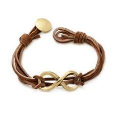 Bronze Infinity Leather Knot Bracelet at James Avery