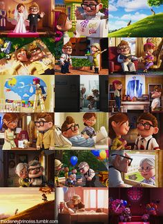 The story of Carl & Ellie from UP.  I cry a little every time we watch the beginning of this show...