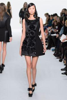 Dice Kayek | Spring 2015 Couture | 21 Black embellished sleeveless mini dress