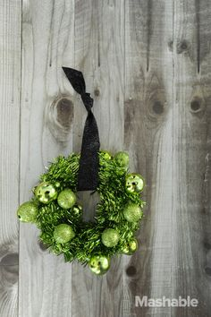 DIY tinsel wreath