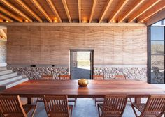 The Cave is a rammed-earth and stone villa in Mexico