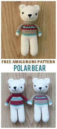 Free Polar Bear Amigurumi Pattern by Little Bear Crochets #freepattern #amigurumi #crochet #littlebearcrochets