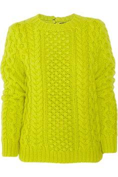 sweater inspiration // bright aran  // not a pattern