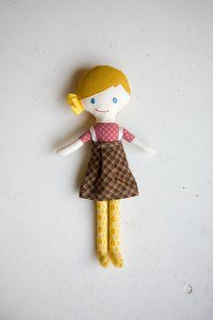 handmade cloth doll / plush doll for little girl by hellomangoshop, $60.00
