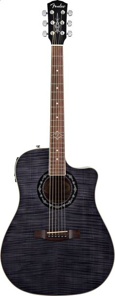 Acoustic Guitar - drooling over this gorgeous acoustic-electric guitar: Fender T-Bucket 300 CE (Black) | $300 at Sweetwater.com