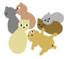 """""""猫だらけ。 cats"""" by maemigoro ❤ liked on Polyvore featuring art"""