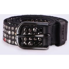 Diesel B-FLASH-U Belts ($300) ❤ liked on Polyvore featuring men's fashion, men's accessories, men's belts, belts, black, men, mens belts, mens studded belt, mens leather belts and mens studded leather belt