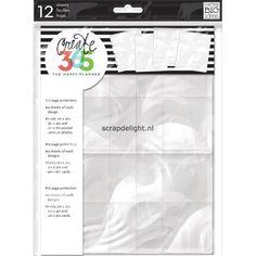 Para colocar cartões de visita, fotos, tags, notas... Me & My Big Ideas Create 365 planner: Page Protectors