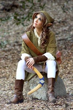 Ideas for my Link Cosplay. Montreal Comiccon here i come! - Beautiful Rule 63 Link Cosplay by Jennifer Kairis Link Cosplay, Epic Cosplay, Cosplay Outfits, Cosplay Costumes, Awesome Cosplay, Cosplay Ideas, Comic Con Costumes, Cool Costumes, Family Costumes